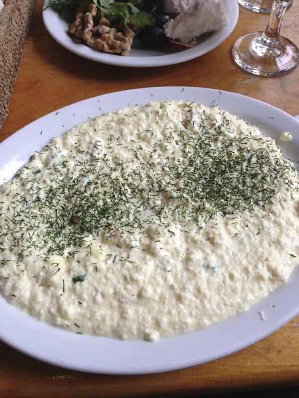 the feta omlette
