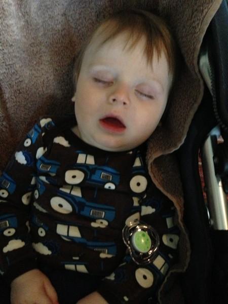 A sick little boy