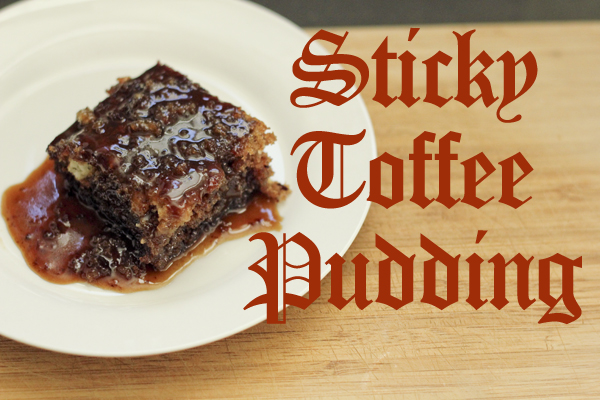 Sticky Toffee Pudding text