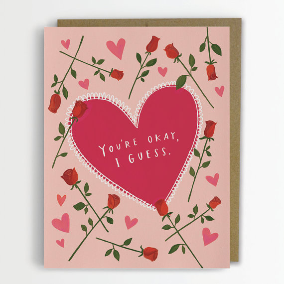 Funny Valentines Day Cards On Etsy Roasted
