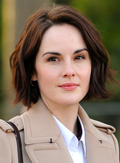 michelle-dockery-medium-wavy-brunette-chic-hairstyle