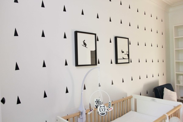 Black and White Nursery Header