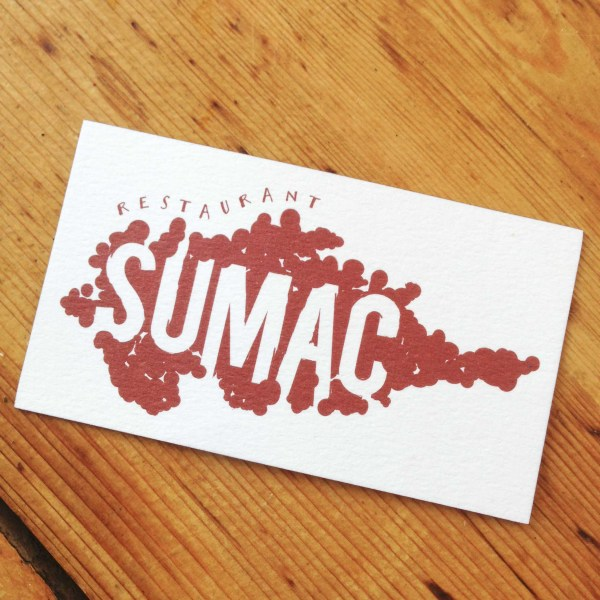 Restaurant Sumac Business Card