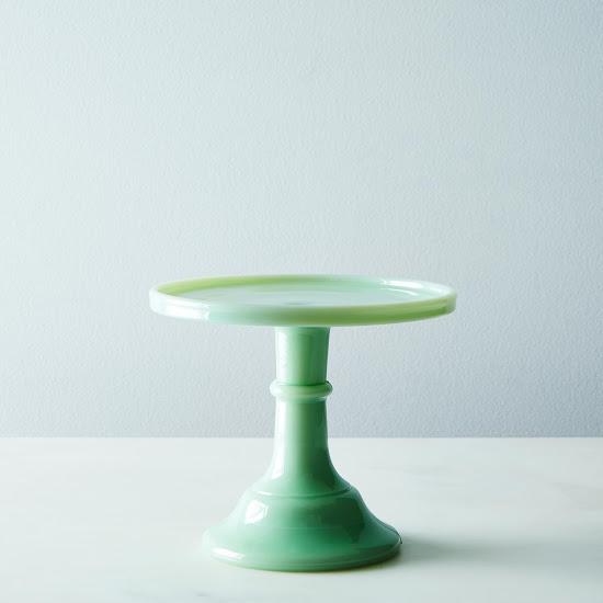 Miniature Jadeite Cake Plate Food 52