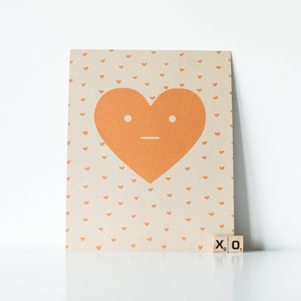 Unconventional Love Heart Print in Peach (Lint and Honey)