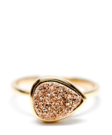 DRUSY DROP RING from Leif