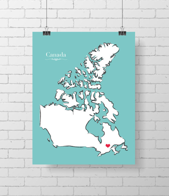 Canada Wall Poster by Abricotine