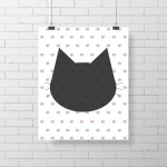 Cat Wall Poster by Abricotine