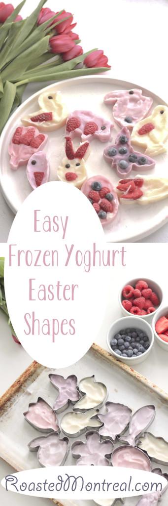 Easy Frozen Yoghurt Easter Shapes