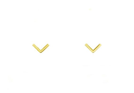 Gold V Studs | Maksym Joaillerie | RoastedMonteral.com