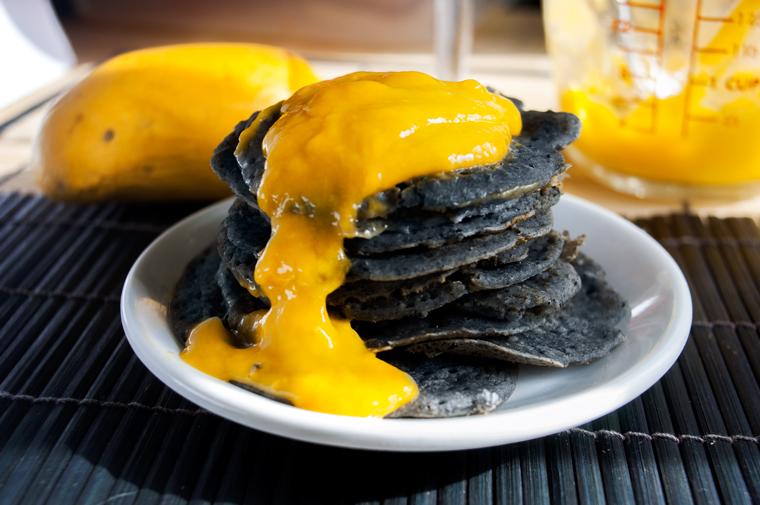 Grim Grains Mango Sesame RIce Pancakes