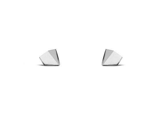 Silver Pentagon Studs | Maksym Joaillerie | RoastedMonteral.com
