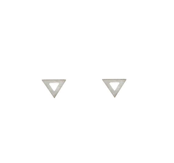 Silver Triangle Studs | Maksym Joaillerie | RoastedMonteral.com