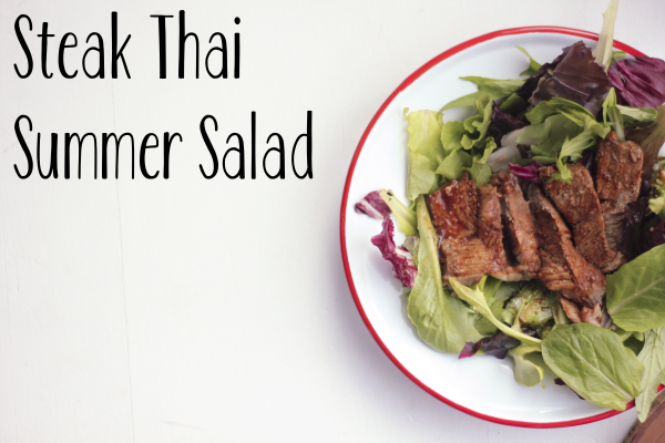 Steak Thai Summer Salad from Thai Kitchen #TKEveryday (www.roastedmontreal.com)