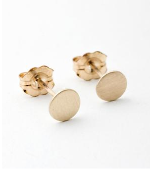 Dot Earrings in Yellow Gold from Catbird | RoastedMontreal.com