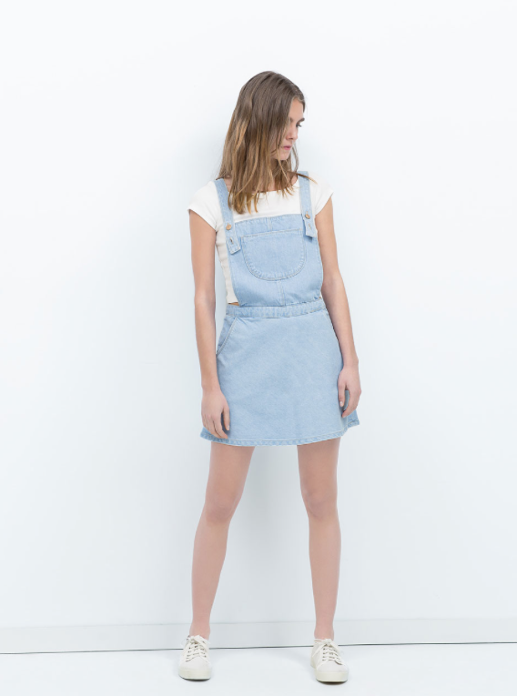 Dungarees with Skirt from Zara