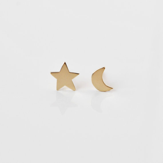 The Angry Weather Night Sky Stud Earrings