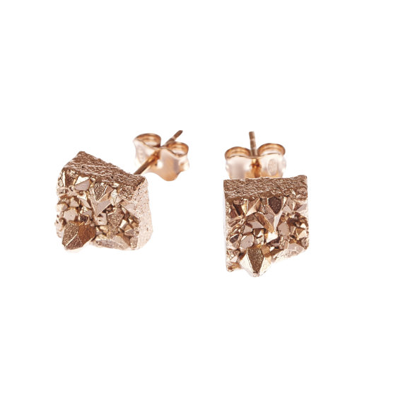 Rose Gold Studs from Noemiah