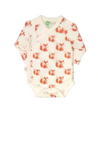 Organic Baby Kimono Onesie - Foxes | Unisex Baby Gifts | RoastedMontreal.com
