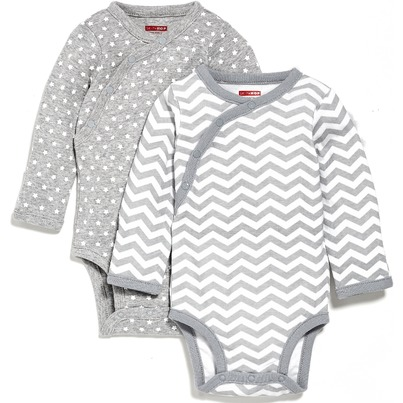 Skip Hop Starry Chevron Side-Snap Long Sleeve Onesie
