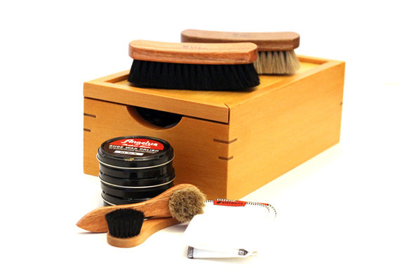 Handcrafted Shoe Shine Kit