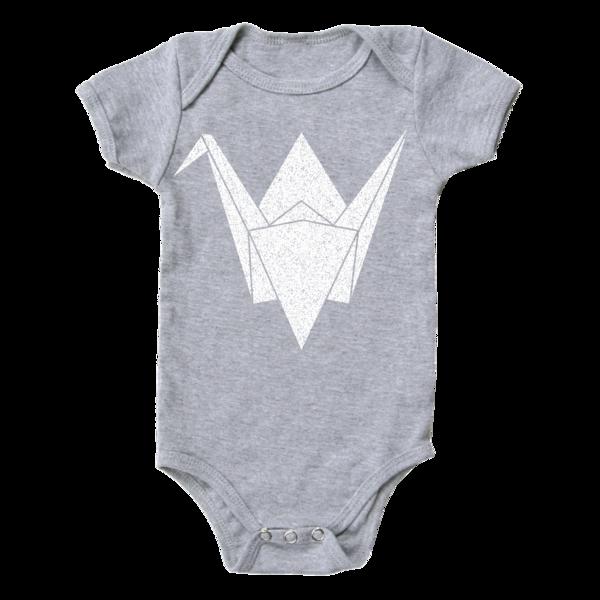 Paper Crane Onesie | Unisex Baby Gifts | RoastedMontreal.com