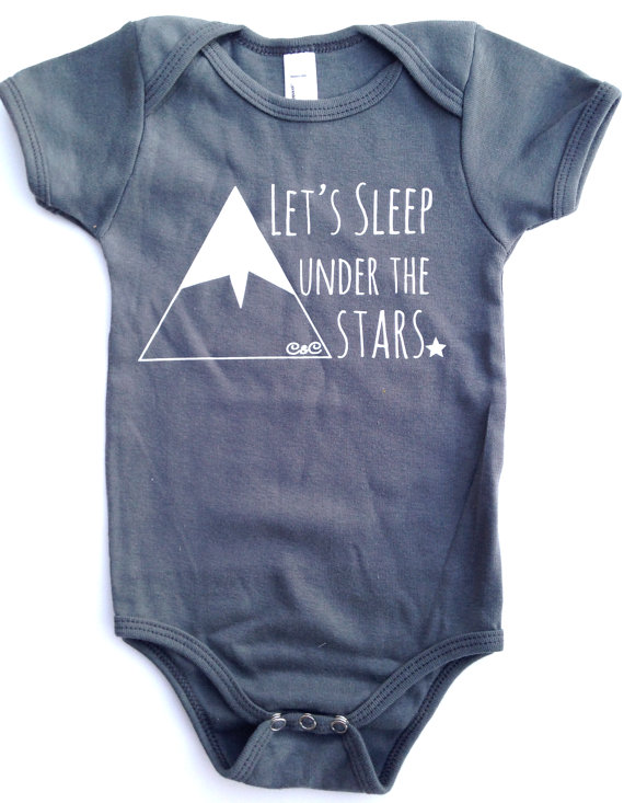 Let's Sleep Under the Stars Onesie | Unisex Baby Gifts | RoastedMontreal.com