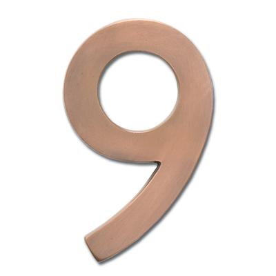 """4"""" Floating House Number from Home Depot"""
