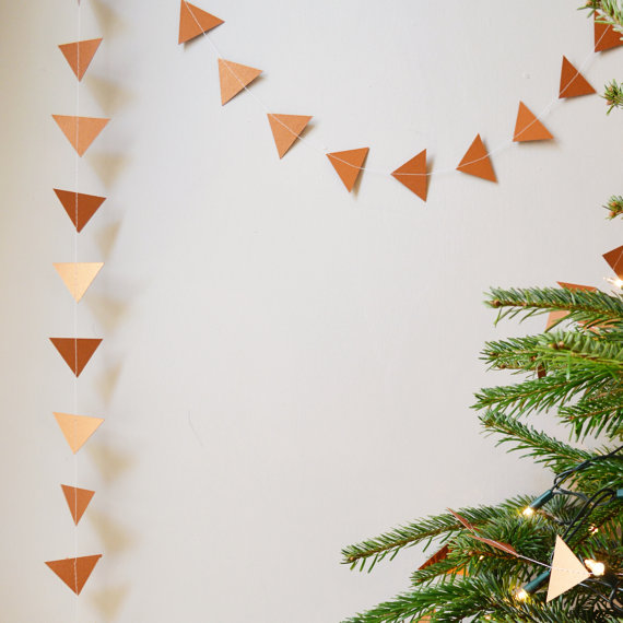 Copper Geometric Bunting from Funky Frills UK