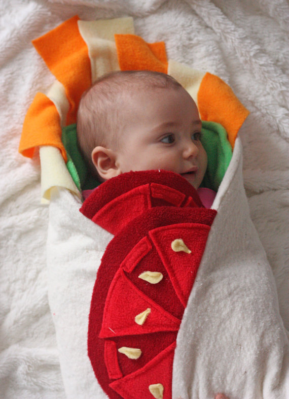 Burrito Baby Blanket from AwesomeSauceDesigns