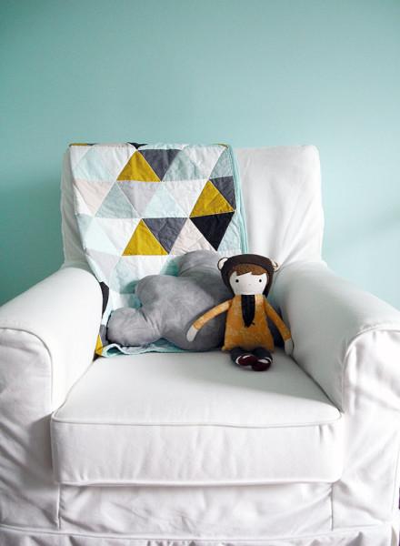 Custom Modern Geometric Baby Quilt by Not Sew Strange
