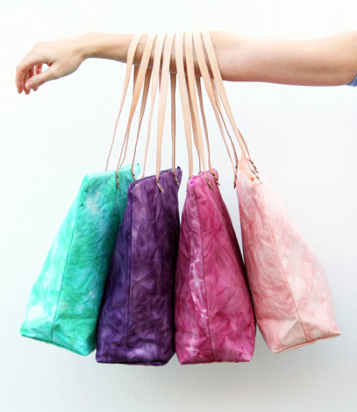 Hand Dyed Market Tote by Twill and Print