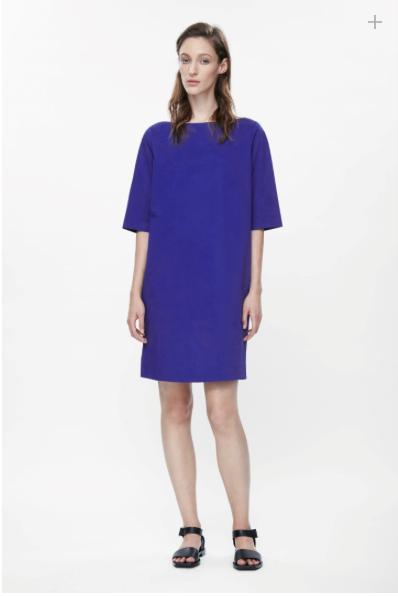 COS Wide-Neck Cotton Dress