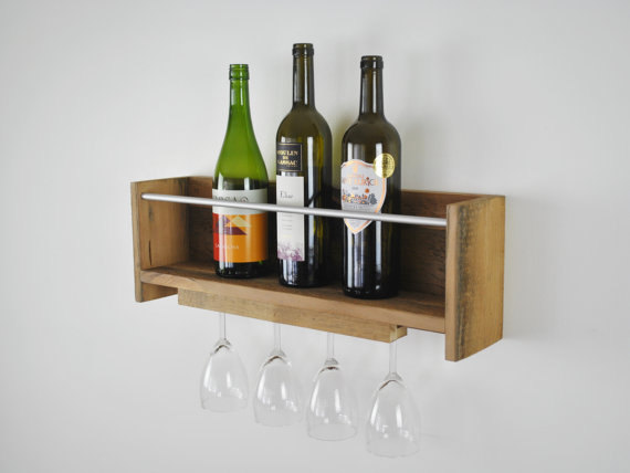 Reclaimed Wood Wine Rack by FMC Design