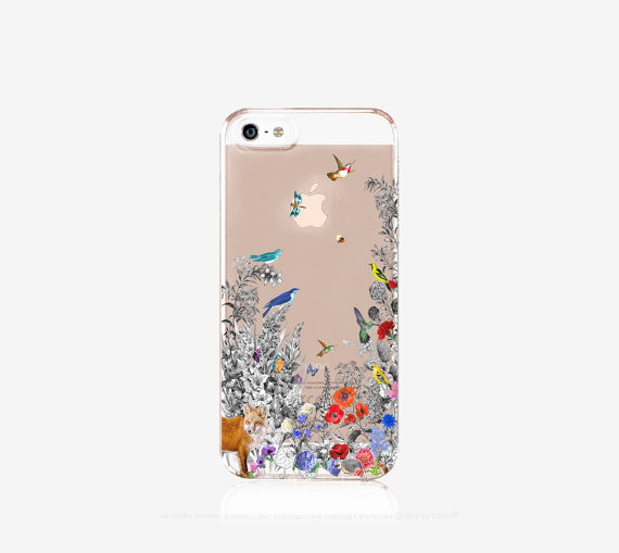 Clear Floral iPhone Case by Cases by CSERA