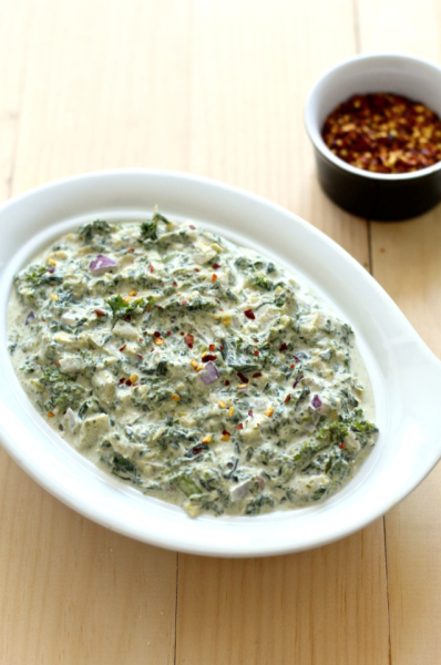 Party-Sized Kale, Spinach and Artichoke Dip from The Girls on Bloor