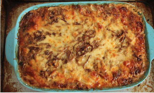 Dauphinoise Potatoes with Caramelized Onions and Balderson White Cheddar from Jason Sandeman