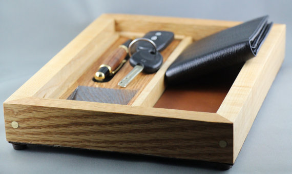 Gentlemen's Valet Tray by Wood Blends