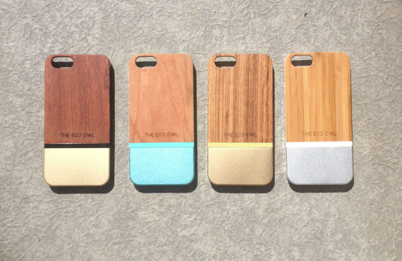 Wood & Aluminum iPhone case by The Eco Owl