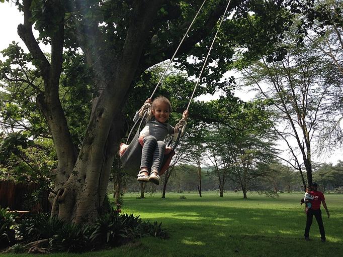 Travelling with Toddlers: Tara in Kenya
