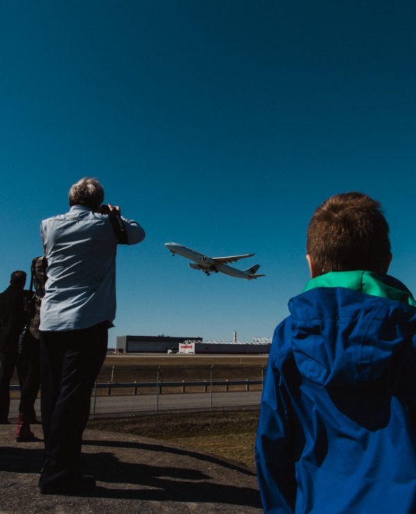 Watching Airplanes in Montreal