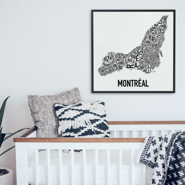 Montreal Neighbourhood Map Poster from Ork Posters
