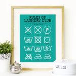 Peanutoak Print Rules of Laundry