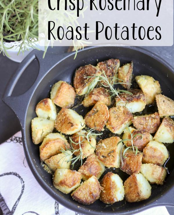 Crisp Rosemary Roast Potatoes from Brown Eggs and Jam Jars