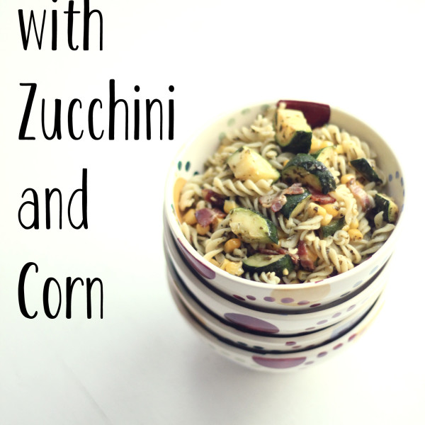 Pesto Bacon Fusilli with Zucchini and Corn | RoastedMontreal.com