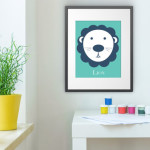 Lion Wall Poster by Abricotine