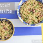 Easy Orzo with bacon & peas | RoastedMontreal.com